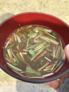 芝桜まつり味噌汁